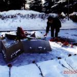 Памятник-рубеж 1201-го полка 354-й с.д. Возле автобусной остановки на Панфиловском проспекте в 1-м микрорайоне