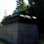 Памятник — танк «Т-34» на 41-м километре Ленинградского шоссе