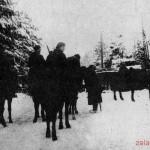 Улица прифронтового поселка Крюково. Декабрь 1941 г.