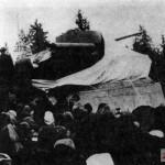 """На торжественном митинге, посвященном открытию памятника """"Танк Т-34"""". 4 декабря 1966 г."""