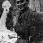 Командир 1073 стрелкового полка 8-й гвардейской стрелковой дивизии капитан Б. Момыш-улы. 8.04.1942 г.